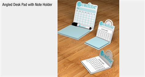 pl dpad angled desk pad with note holder made in the usa