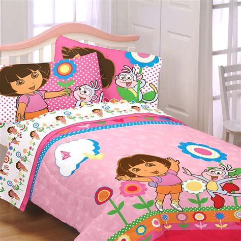 dora comforter set dora explorer bedding set 5pc floral bed in a bag set