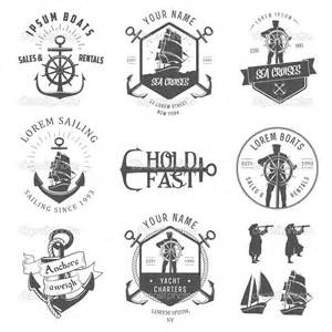 nautical design vintage nautical tattoos set real photo pictures images