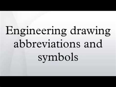 engineering drawing abbreviations  symbols youtube