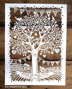Wedding Family Tree Template by Family Tree Wedding Anniversary Papercut Template