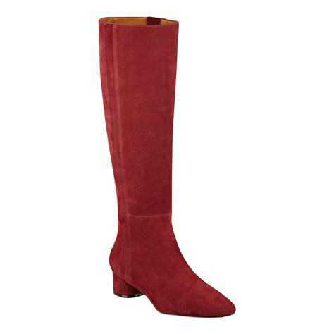 nine west suede boots nine west nicoh boot in wine suede lyst