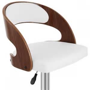 chaise de bar bois chrome noyer monde du tabouret