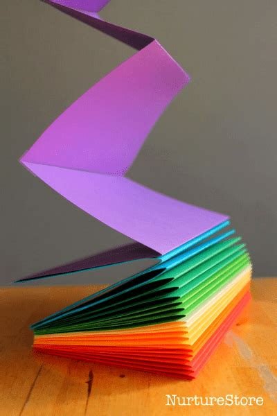 How To Make A Book With One Of Paper - how to make a rainbow zigzag book nurturestore