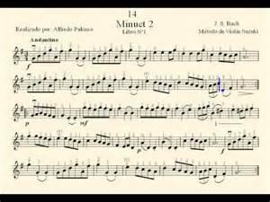 Suzuki Book 1 Minuet 1 Partitura Minuet 2 N 186 14 J S Bach M 233 Todo De Viol 237 N Suzuki