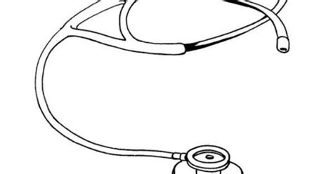 coloring page stethoscope community helper doctor kit