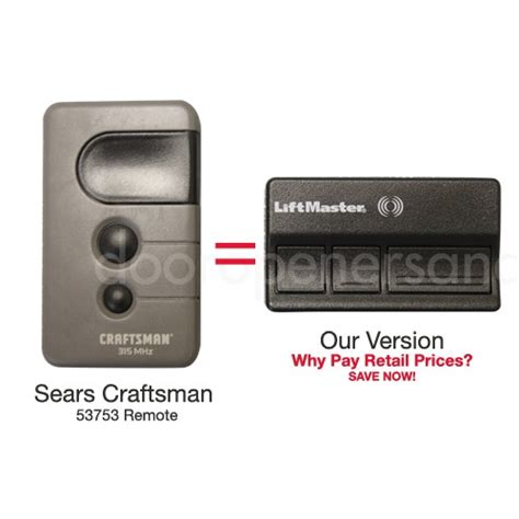Garage Door Opener Remote Sears Craftsman Garage Door Sears Garage Door Remote Replacement