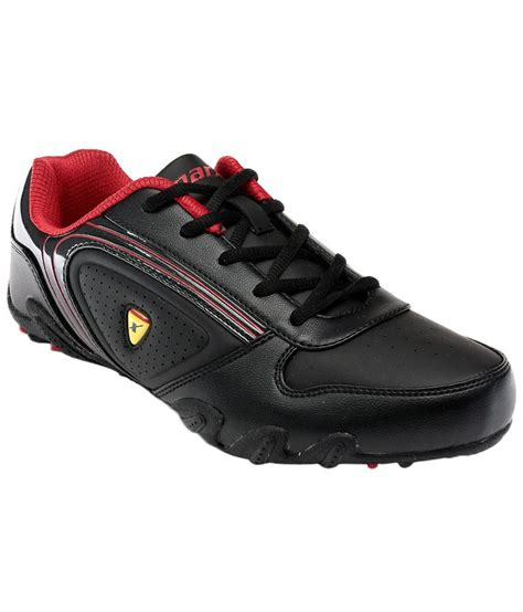 sparx black lace up cricket sports shoes price in india