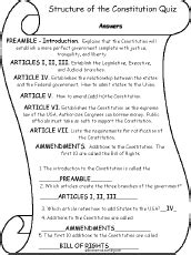 The United States Constitution Outline by Us Constitution Read And Answers Quizzes Read And Answer Activities Enchantedlearning