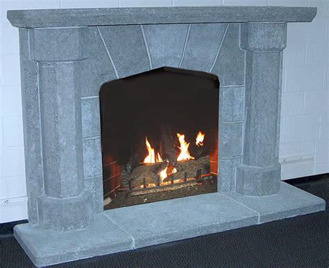 frontier gray thermalled finish fireplace surrounds