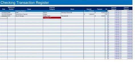 9 Excel Checkbook Register Templates Excel Templates Checking Account Ledger Template Excel