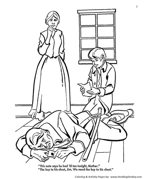 treasure island coloring pages a pirate summons black