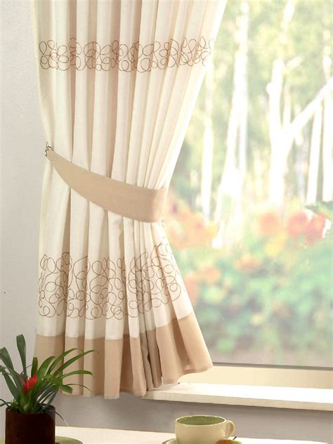 retro curtains uk retro natural cream embroidered kitchen curtain curtains uk