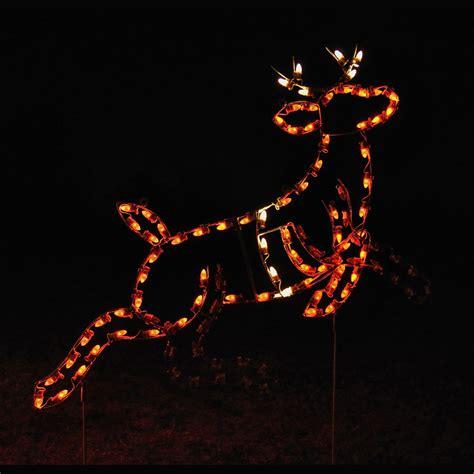 Animated Led Lead Reindeer Light Display 5 5 W Reindeer Lights
