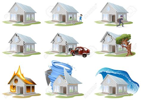 house maintenance insurance property damage clipart 16