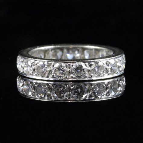 antique eternity ring 3ct of diamonds all platinum