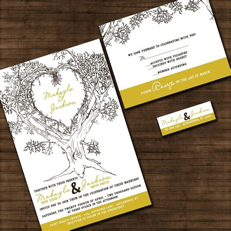 Oak Tree Wedding Invitations by Personalized Oak Tree Wedding Invitation By Invitingmoments