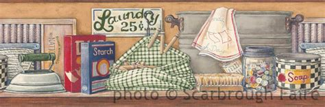 Laundry Room Border by Laundry Room Wallpaper Border Jn1789b Country Washboard