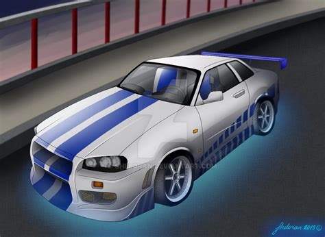 nissan gtr skyline fast and furious 2 fast 2 furious nissan skyline gt r r34 by sheloran