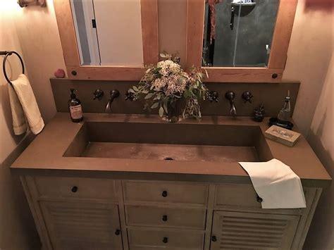 custom bathroom vanity tops with sinks engineered concrete products brooks custom