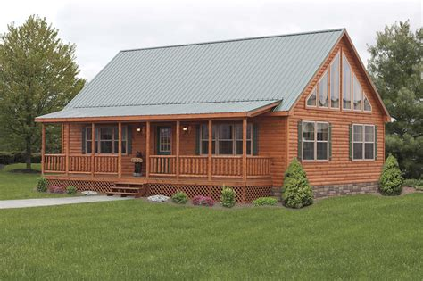 Walkout Bungalow Floor Plans by Log Cabin Double Wide Mobile Homes Quotes