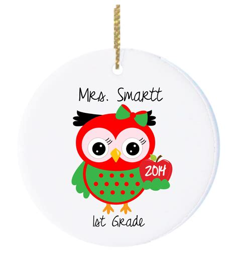 personalized christmas ornaments teacher ornament with cute