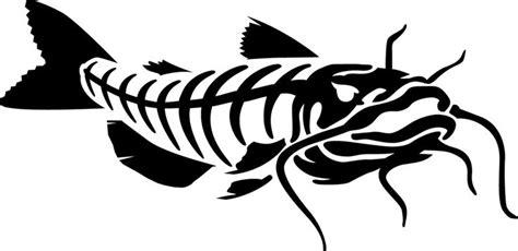 catfish skeleton art   rods fish drawings catfish