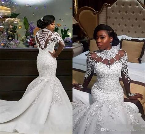 2018 New Luxury African Mermaid Wedding Dresses Long