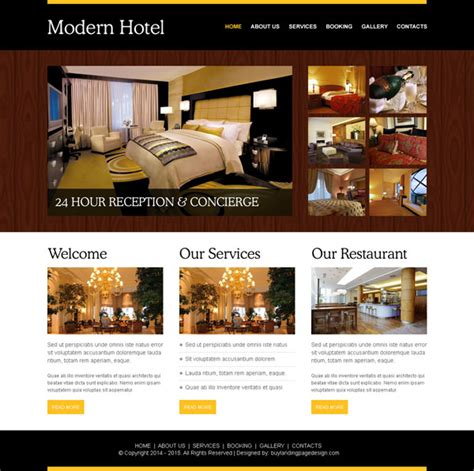 how to create a stylish hotel website psd to html modern hotel website template psd 001 website template