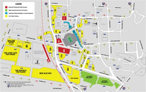 lsu football parking map lsusports net the official web site of lsu tigers athletics
