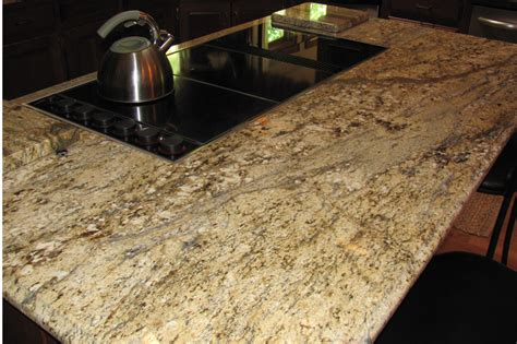 Yellow River Granite Countertops by Pin Granit Oscuro Mist On