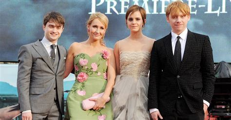 j k rowling on harry potter jk rowling and the harry potter cast through the years