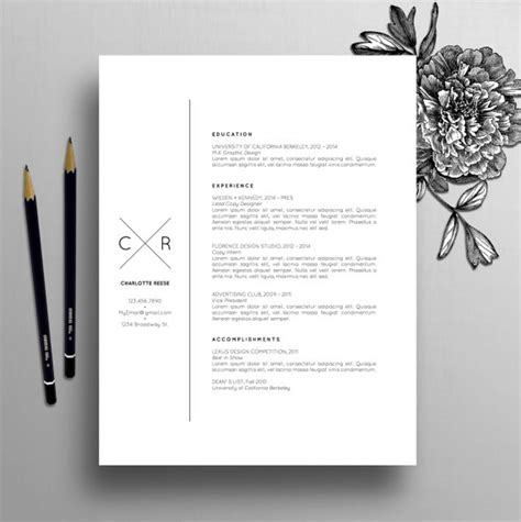 creative cv templates etsy creative resume template cv template cover letter for ms
