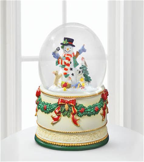 treasures snowman friends snow globe by san francisco box company webgift