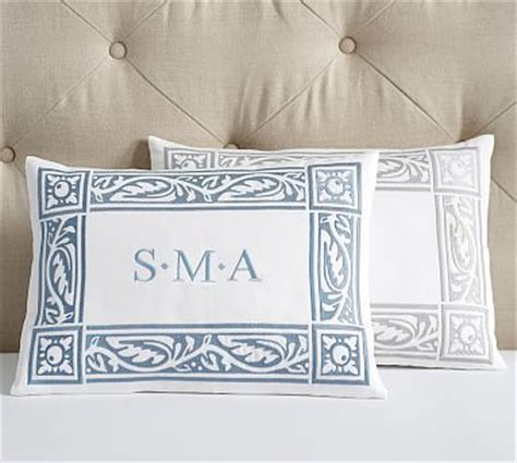 Monogram Pillows Pottery Barn by Embroidered Monogram Boudoir Pillow Cover Pottery Barn