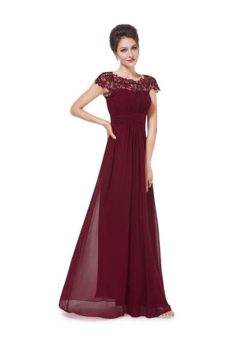 Abendkleid Bordeaux Lang by Edles Langes Spitze Abendkleid In Bordeaux Rot
