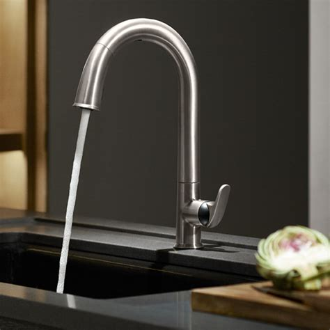 touchless faucets kitchen kohler k 72218 vs sensate touchless kitchen faucet vibrant stainless touchless kitchen sink