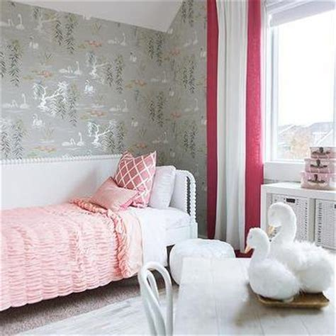 pink and grey toddler room pink distressed bed bookcase