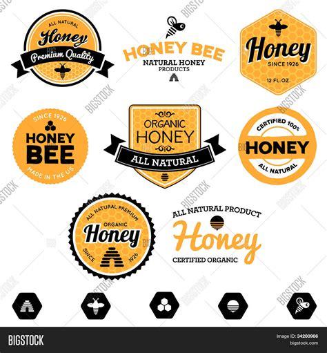 Etiketten Honig by Vektorgrafik Und Foto Honig Etiketten Bigstock