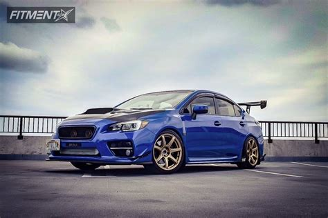 custom blue subaru 2016 subaru wrx sti work emotion t7r k sport coilovers