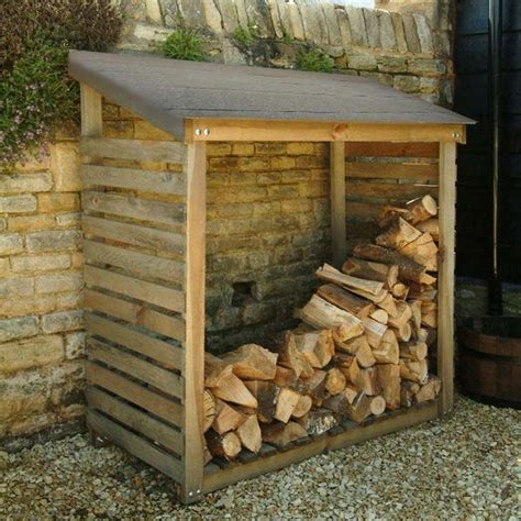 Log Wood Shed by Log Storage Wood Storage