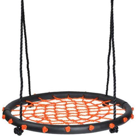 spider web swing round spider web nest swing in orange 60cm buy web