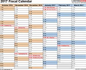 financial year calendar template fiscal calendars 2017 as free printable excel templates