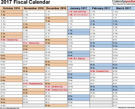 Budget Calendar Pdf Fiscal Calendars 2017 As Free Printable Pdf Templates