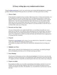 Student Essay Writing by 12 Essay Writing Tips That Every Students Needs To