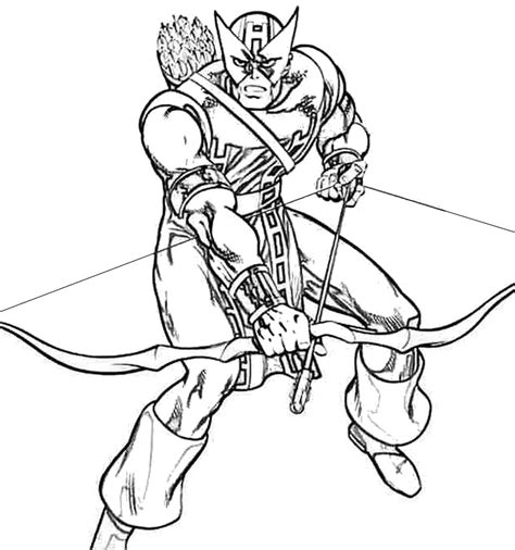 hawkeye archer coloring pages