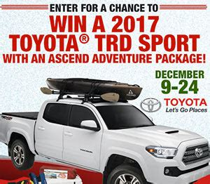 Bass Pro Toyota Tundra Sweepstakes - win a 2017 toyota trd sport sweep geek