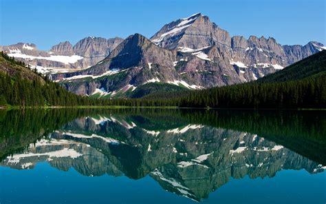 mountain lake reflections hd nature  wallpapers