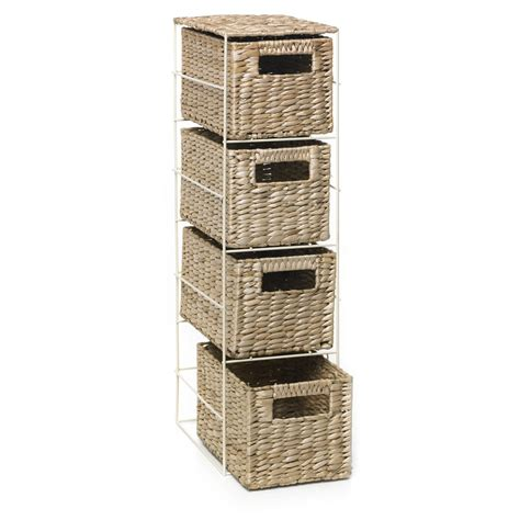 Bathroom Storage Wicker Wilko 4 Drawer Unit At Wilko