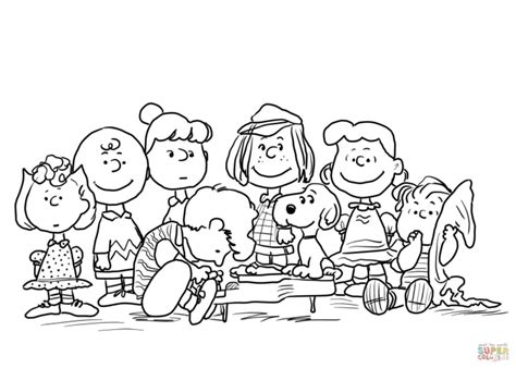 charlie brown characters pages coloring pages